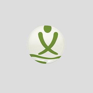 Green massage design Mini Button