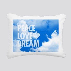 Peace Love Dream Rectangular Canvas Pillow
