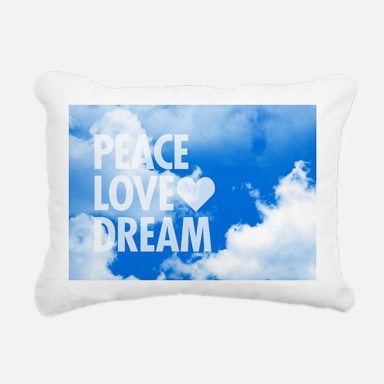 Peace Love Dream Rectangular Canvas Pillow