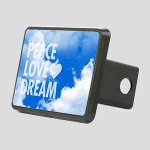 Peace Love Dream Rectangular Hitch Cover