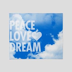 Peace Love Dream Throw Blanket