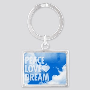 Peace Love Dream Landscape Keychain