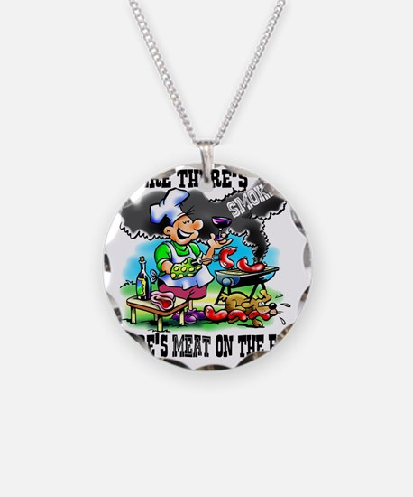 Where Theres Smoke BBQ Necklace