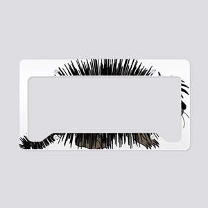 Cartoon Porcupine Graphic License Plate Holder