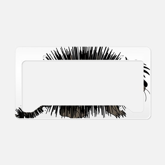 Cartoon Porcupine Graphic License Plate Holder