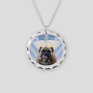 Bulldog angel Necklace Circle Charm