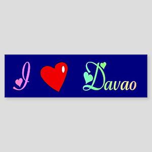I Love Davao Gifts Bumper Sticker
