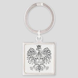Polish Eagle Square Keychain