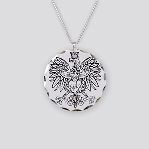Polish Eagle Necklace Circle Charm