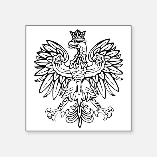 """Polish Eagle Square Sticker 3"""" x 3"""""""