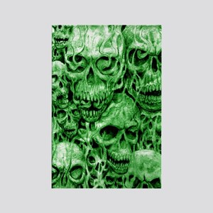 skull 67 dark green shade tall Rectangle Magnet