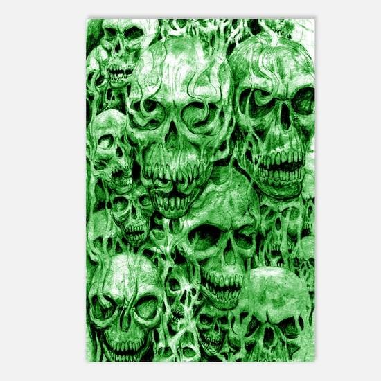 skull 67 dark green shade Postcards (Package of 8)