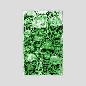 skull 67 dark green shade tall 3'x5' Area Rug