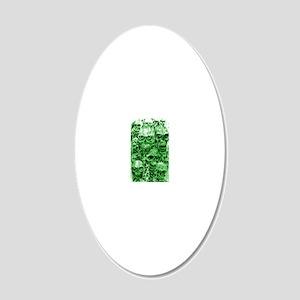 skull 67 dark green shade ta 20x12 Oval Wall Decal