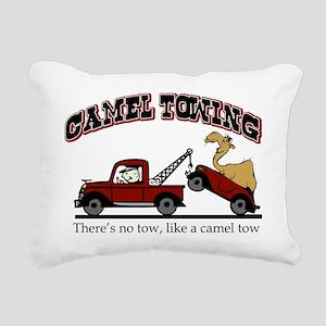 Camel Towing Rectangular Canvas Pillow