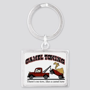 Camel Towing Landscape Keychain
