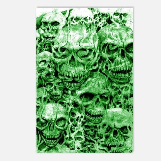 skull 55 dark green shade Postcards (Package of 8)