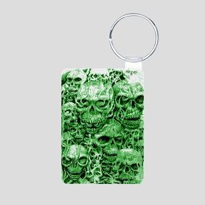 skull 55 dark green shade  Aluminum Photo Keychain