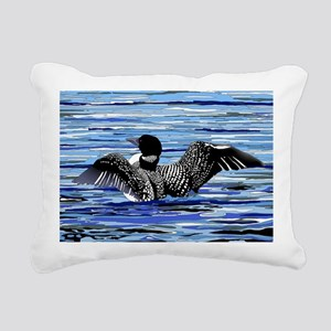Loon w/open wings Rectangular Canvas Pillow