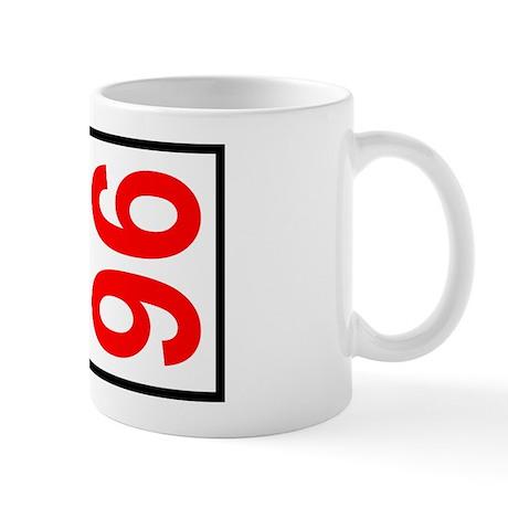 96 Autocross Number Plates Mug