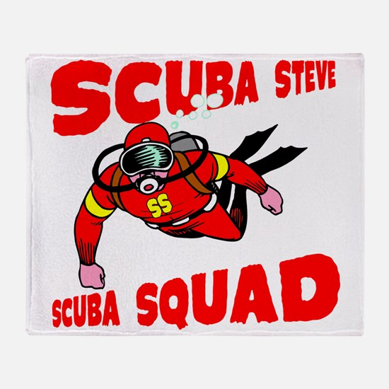 Scuba Steve Throw Blanket