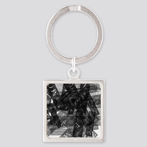 equationsblktransparent Square Keychain