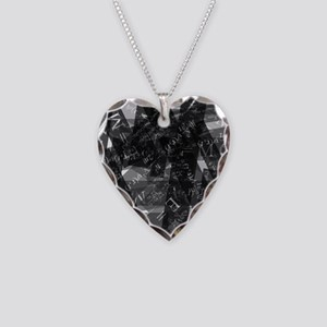 equationsblktransparent Necklace Heart Charm