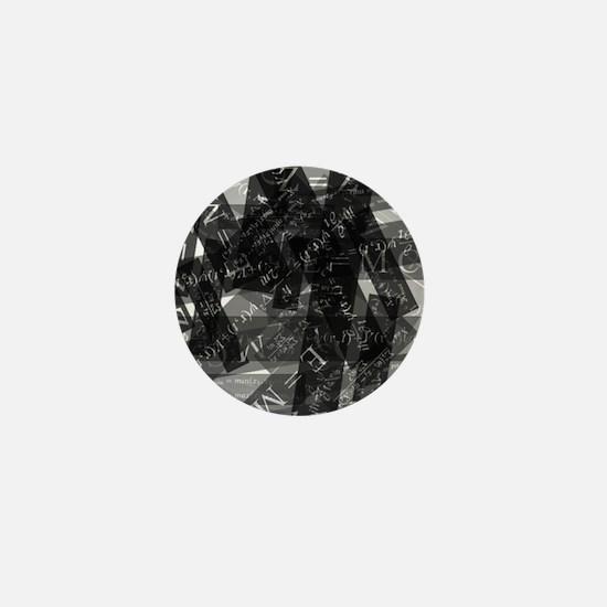 equationsblktransparent Mini Button