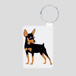 Cartoon Miniature Pinscher Aluminum Photo Keychain