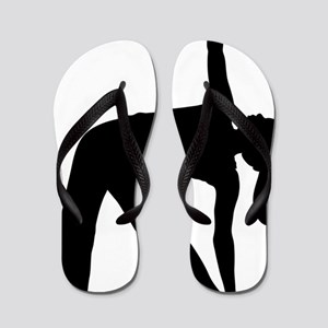 Silhouette of a Woman Exercising Flip Flops