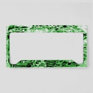 skull 45 dark green shade License Plate Holder