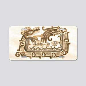 Xochicalco Feathered Serpen Aluminum License Plate