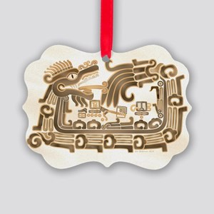 Xochicalco Feathered Serpent Picture Ornament