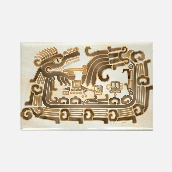 Xochicalco Feathered Serpent Rectangle Magnet