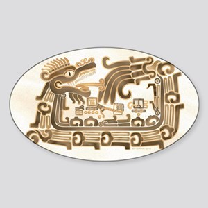 Xochicalco Feathered Serpent Sticker (Oval)
