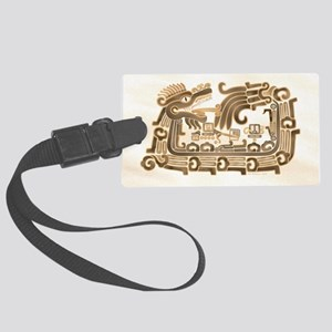 Xochicalco Feathered Serpent Large Luggage Tag