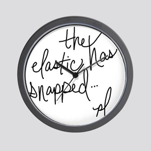 Cycling Quotes - The Elastic Has Snappe Wall Clock