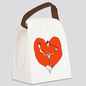 Foxes Mate for Life Canvas Lunch Bag