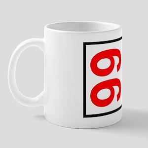 99 Autocross Number Plates Mug