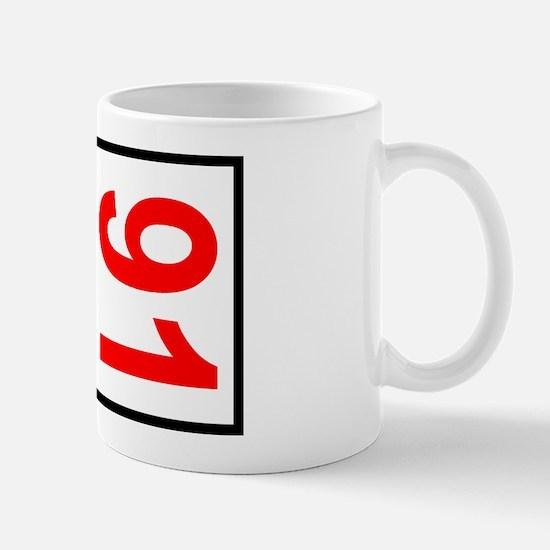 91 Autocross Number Plates Mug