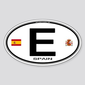 Spain Euro-style Country Code Oval Sticker