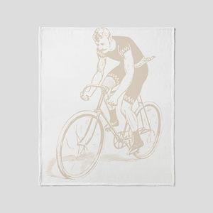 Retro Cyclist Throw Blanket