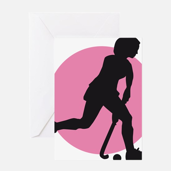 female hockey player Greeting Card