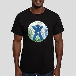 Intactivist Men's Fitted T-Shirt (dark)