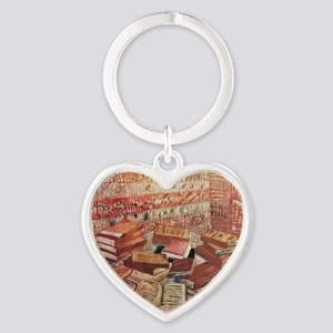 French Novels and Rose Heart Keychain