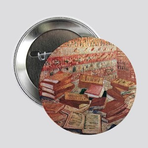 """French Novels and Rose 2.25"""" Button"""