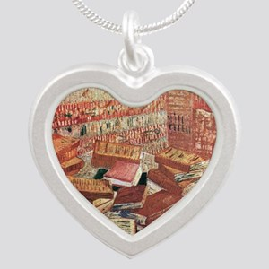Van Gogh French Novels and R Silver Heart Necklace