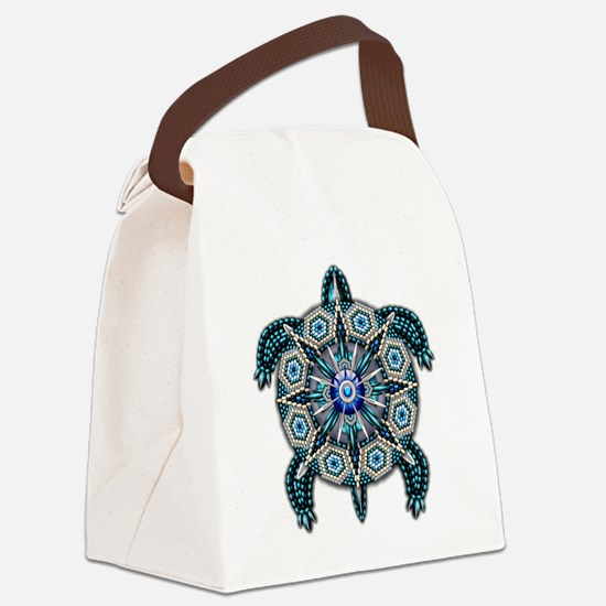 Native American Turtle 01 Canvas Lunch Bag