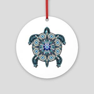 Native American Turtle 01 Round Ornament