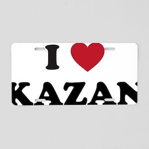 I Love Kazan Aluminum License Plate